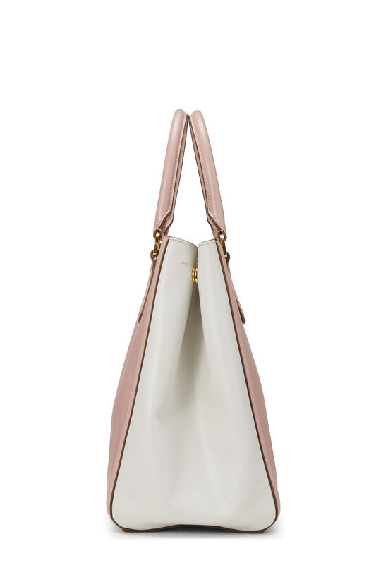 Pink & Ivory Saffiano Bicolor East West Tote, , large image number 2