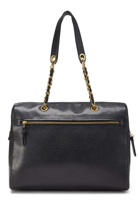 Black Caviar Zip Tote Small, , large image number 3