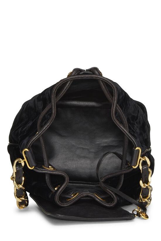 Black Velvet Bucket Bag Small, , large image number 5