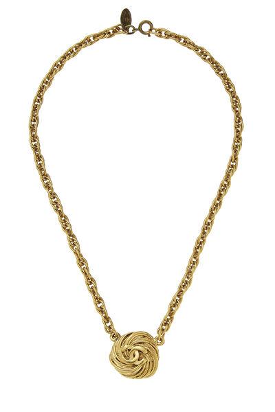 Gold Engraved 'CC' Choker
