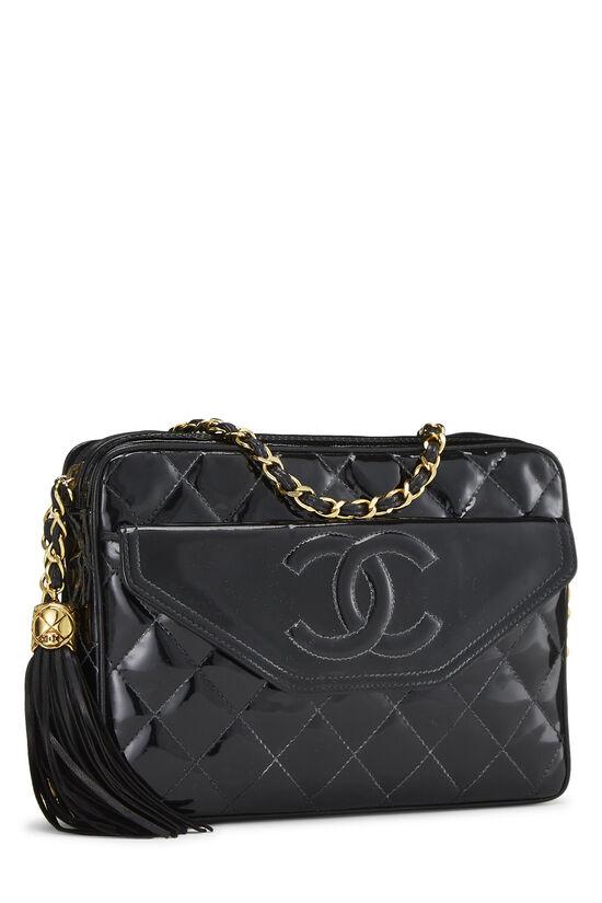 Black Patent Leather Pocket Camera Bag Medium, , large image number 2