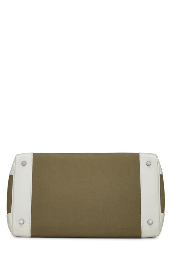 White Swift & Vert Olive Canvas Birkin 35, , large image number 4