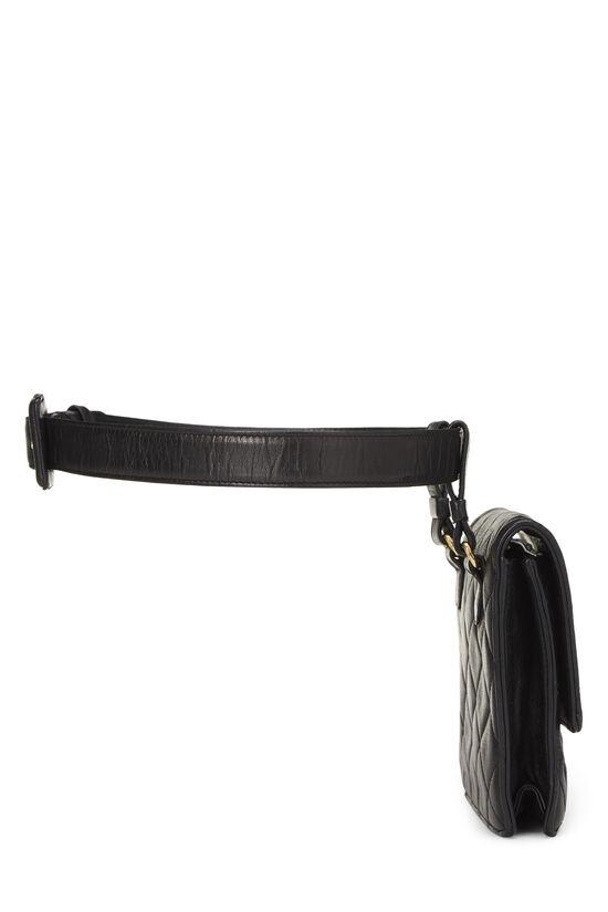 Black Quilted Lambskin Belt Bag 70, , large image number 2