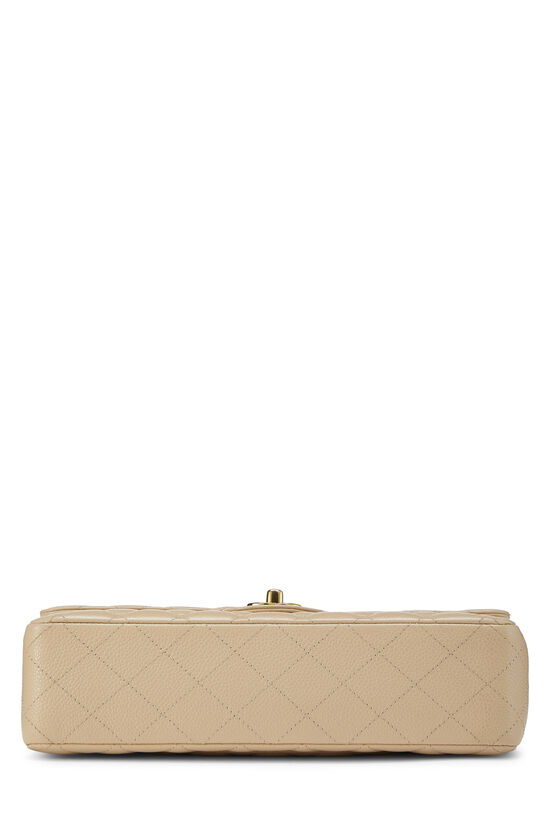 Beige Quilted Caviar Classic Double Flap Medium, , large image number 4