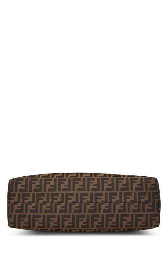 Brown Zucca Canvas Shoulder Bag, , large image number 4