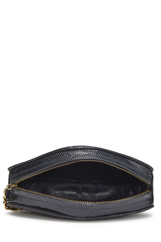Navy Lizard Oval Clutch, , large image number 5