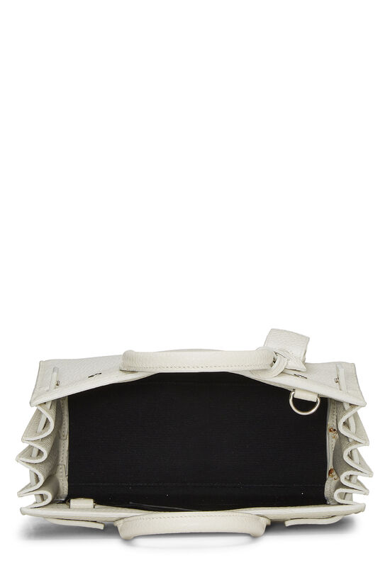 White Calfskin Sac de Jour Nano, , large image number 6