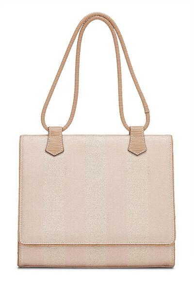 Metallic Rose Pequin Canvas Shoulder Bag