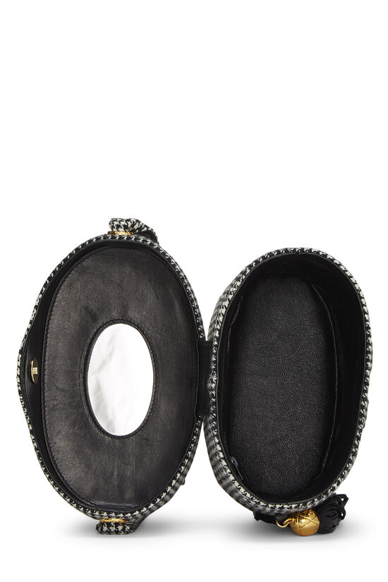 Black & White Wool Houndstooth Binocular Bag Small, , large image number 5