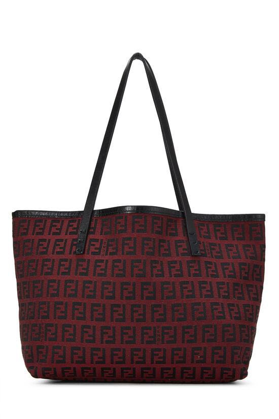 Red & Black Zucchino Canvas Tote Mini, , large image number 0