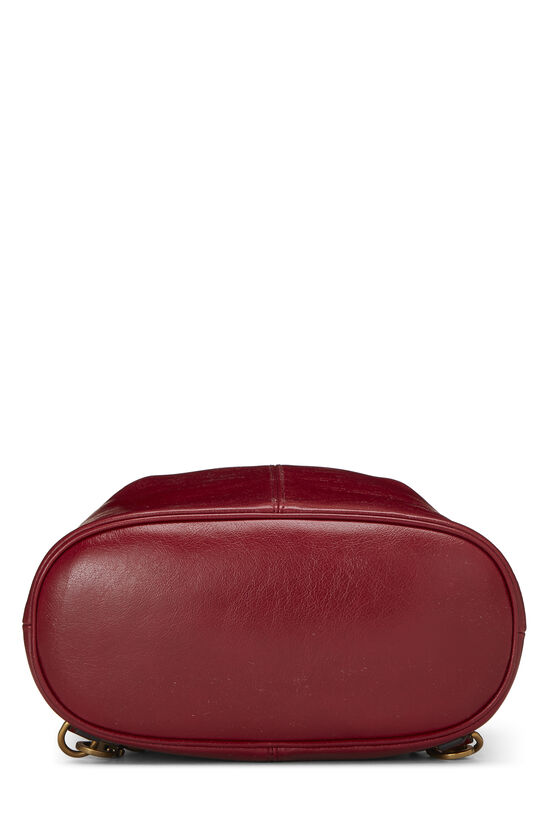 Red Leather (RE)BELLE Convertible Bucket Bag, , large image number 4
