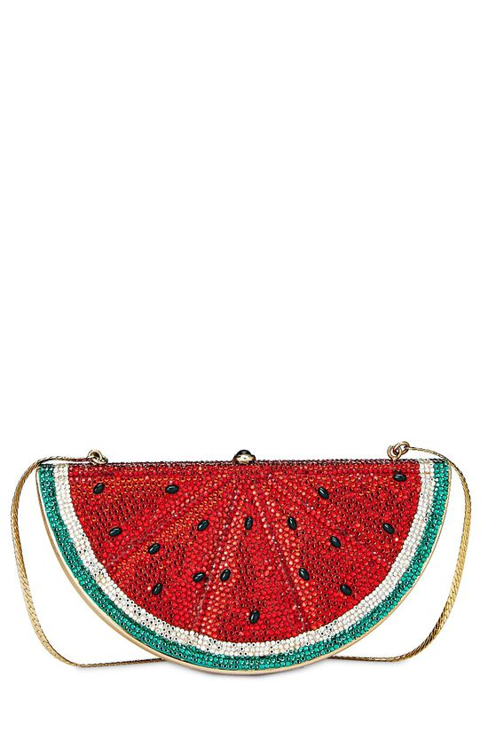 Red Crystal Watermelon Minaudiere, , large image number 3
