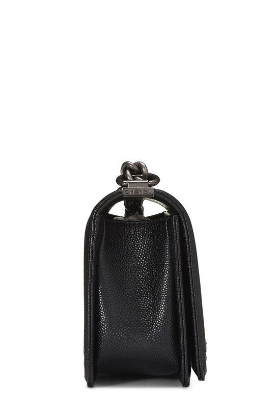 Black Quilted Caviar Boy Bag Medium, , large image number 2