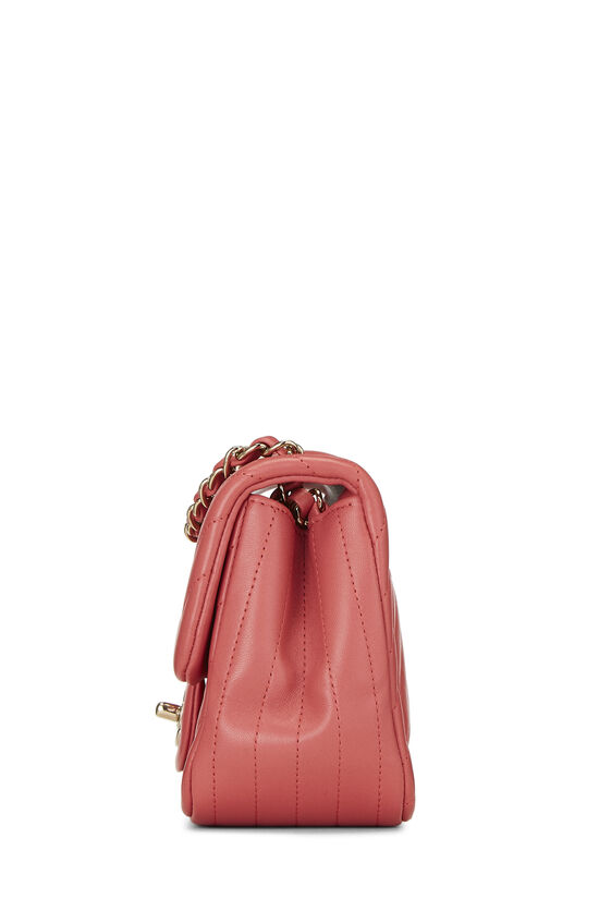 Pink Chevron Lambskin Classic Square Flap Mini, , large image number 2