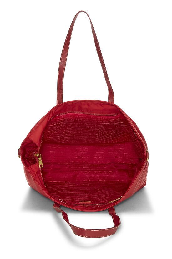Red Tessuto Nylon Tote XL, , large image number 5