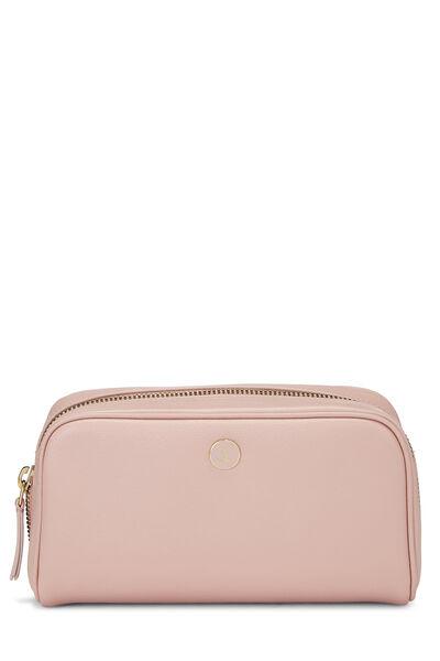 Pink Calfskin Cosmetic Pouch Mini
