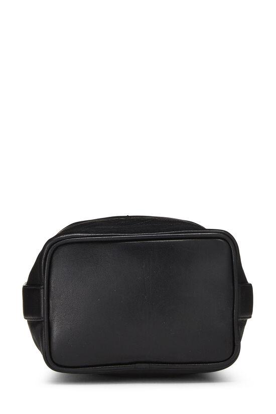 Black Lambskin 'CC' Bucket Bag Small, , large image number 5