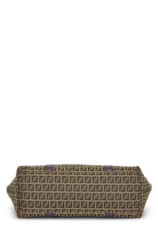 Purple & Beige Zucchino Canvas Superstar Tote Medium, , large image number 4