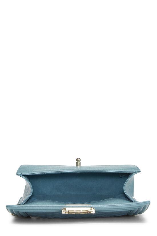 Blue Quilted Caviar Boy Bag Medium, , large image number 6