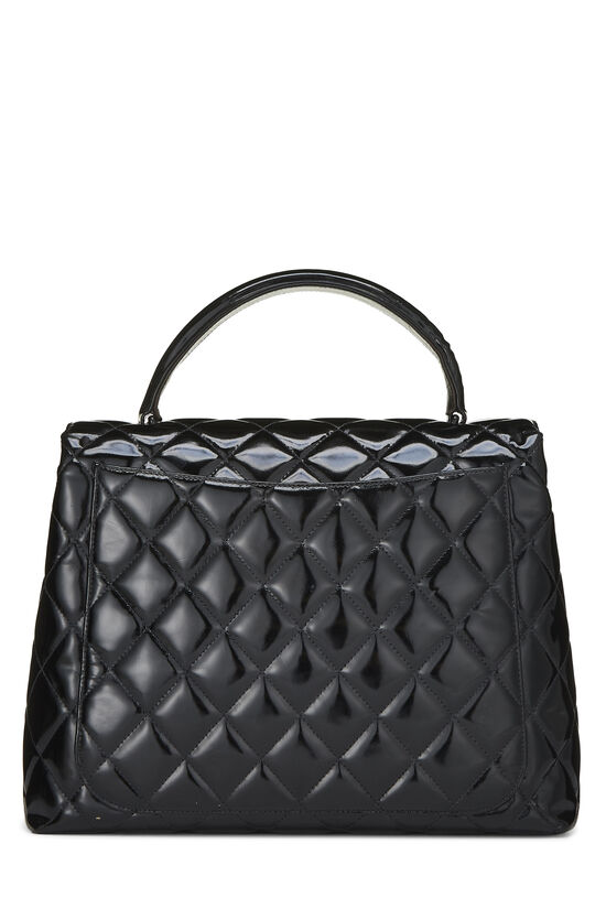 Black Quilted Patent Leather Kelly Jumbo, , large image number 3