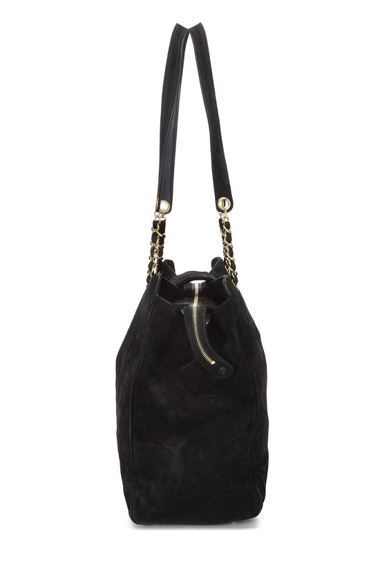 Black Quilted Suede Supermodel, , large image number 2