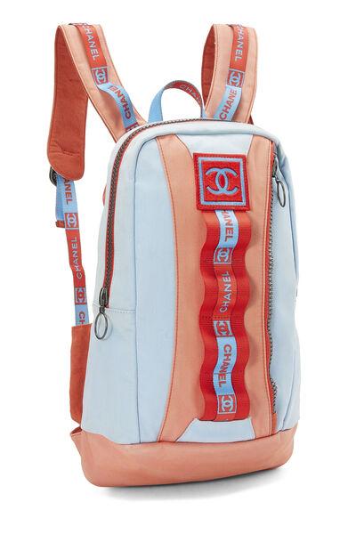 Blue & Orange Canvas Sportline Backpack, , large