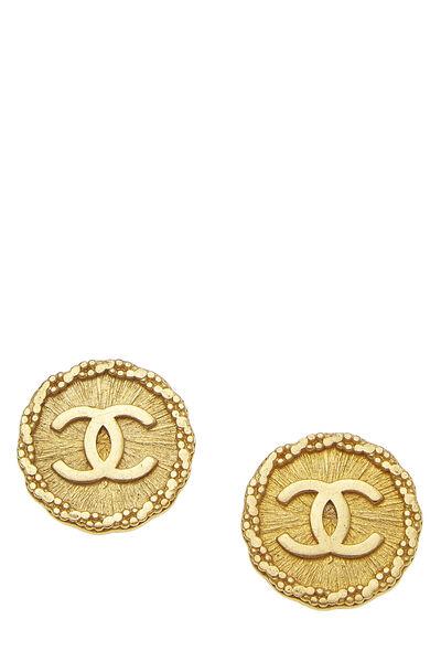 Gold CC Engraved Earrings
