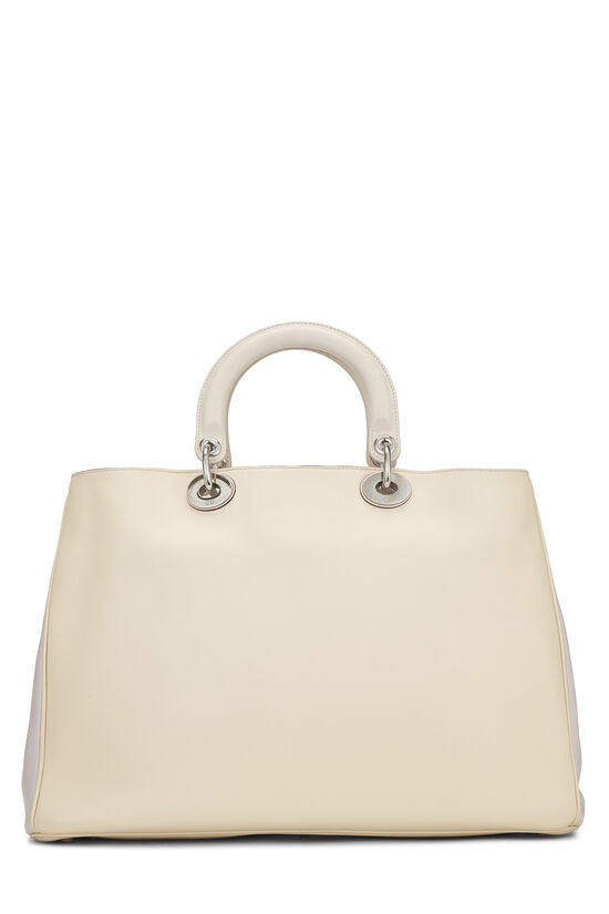 Cream Leather Diorissimo Large, , large image number 4