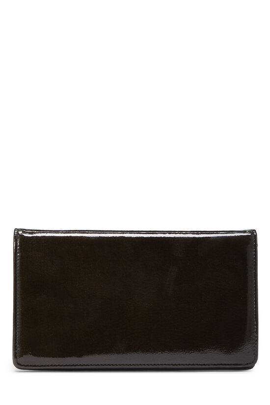 Brown Patent Leather Yen Wallet, , large image number 2