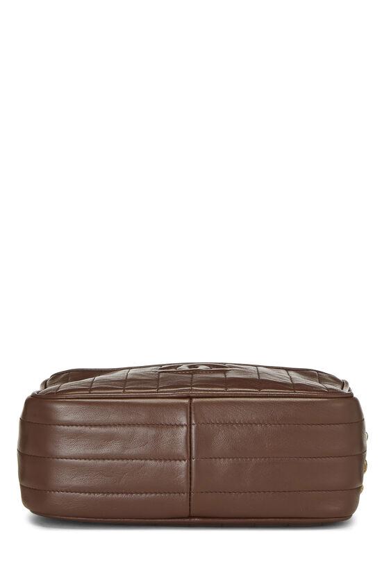 Brown Vertical Lambskin Pocket Camera Bag Mini, , large image number 4