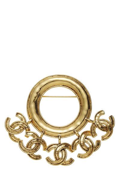 Gold 'CC' Charm Pin