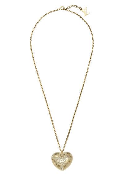 Cream Acrylic Inclusion Charm Necklace