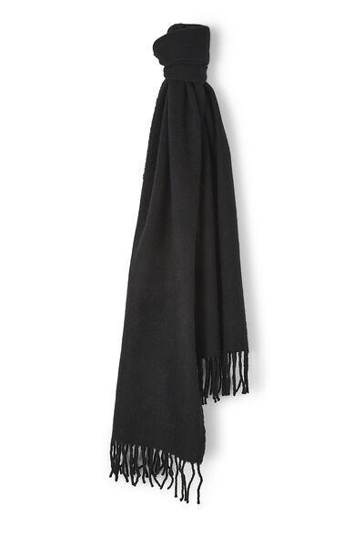 Black Cashmere Fringed Shawl