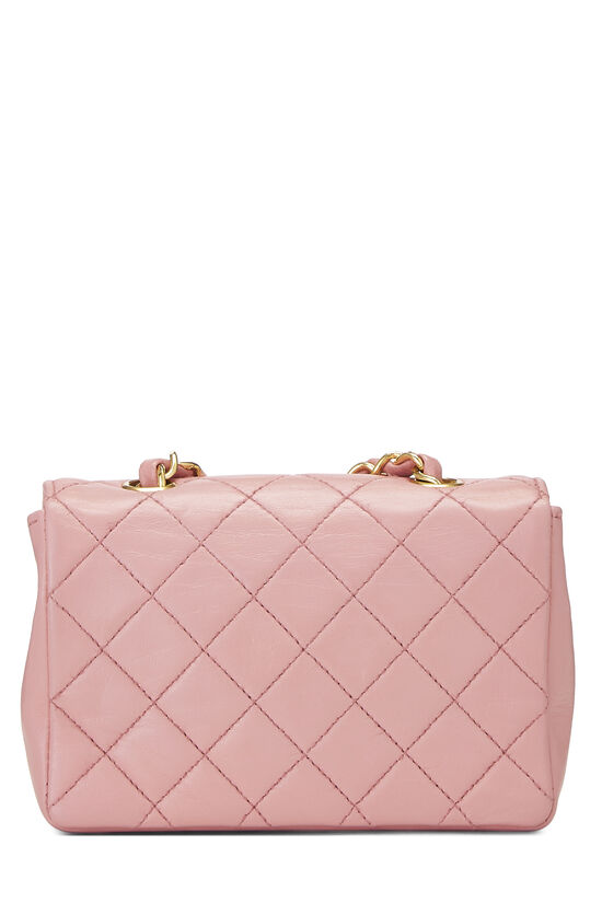 Pink Quilted Lambskin Half Flap Micro, , large image number 3