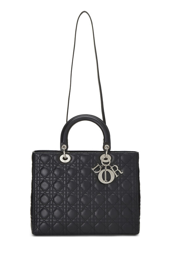 Black Cannage Quilted Lambskin Lady Dior Large, , large image number 1