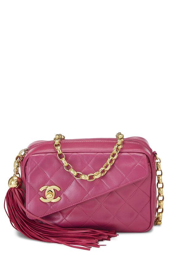 Pink Quilted Lambskin Pocket Camera Bag Mini, , large image number 0