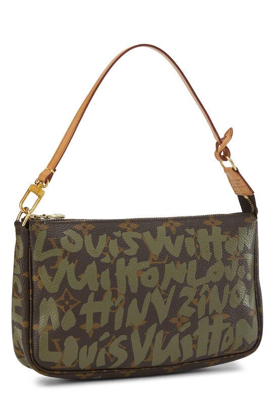 Stephen Sprouse x Louis Vuitton Green Monogram Graffiti Pochette Accessoires, , large image number 1