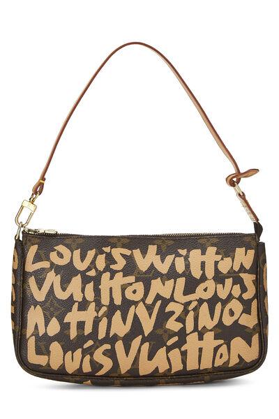 Stephen Sprouse x Louis Vuitton Beige Monogram Graffiti Pochette Accessoires