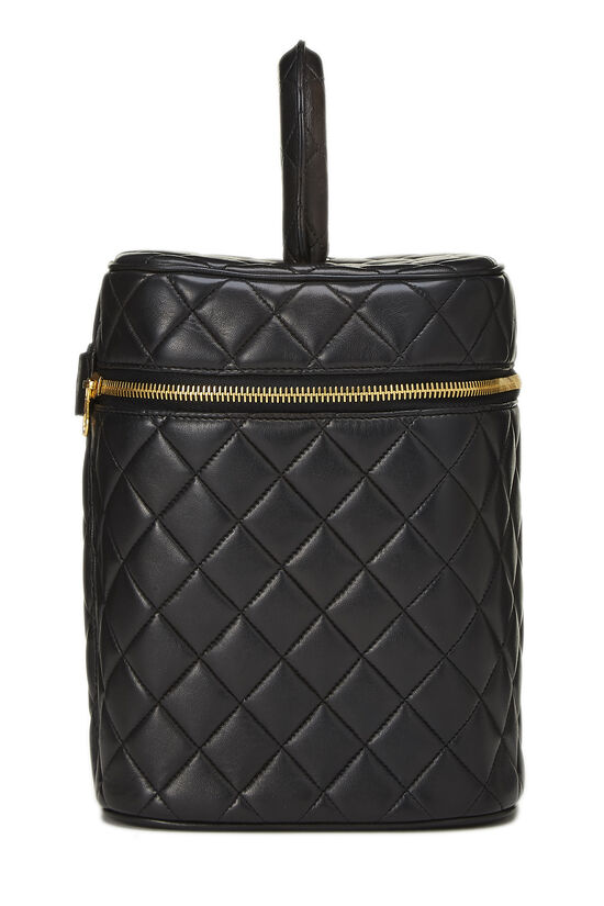 Black Quilted Lambskin Vanity Tall, , large image number 2