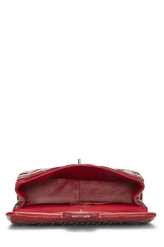Red Quilted Patent Leather New Classic Double Flap Jumbo, , large image number 5