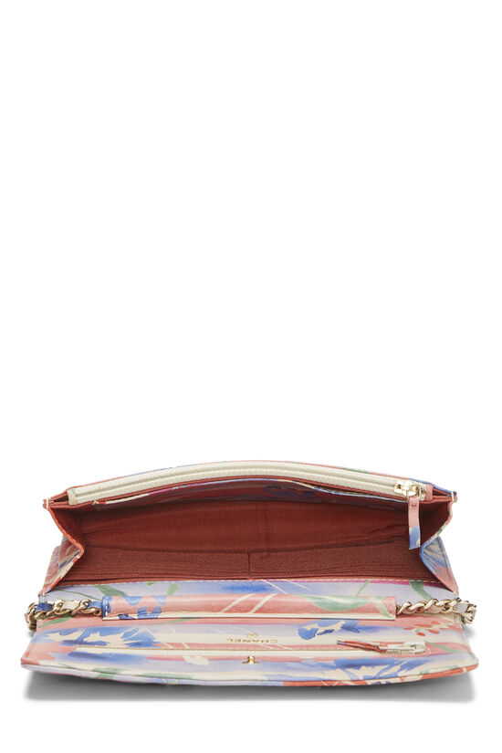 Multicolor Floral Quilted Lambskin Wallet on Chain (WOC), , large image number 5