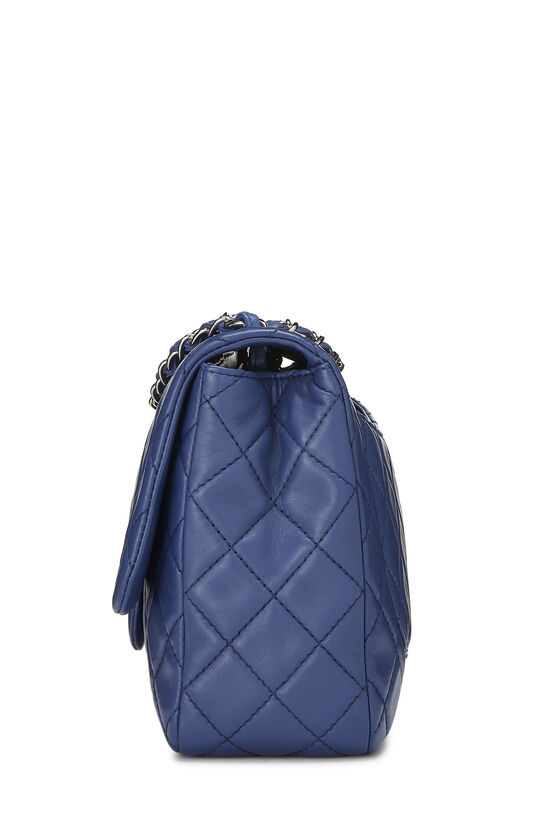 Blue Quilted Lambskin Classic Flap Jumbo, , large image number 2