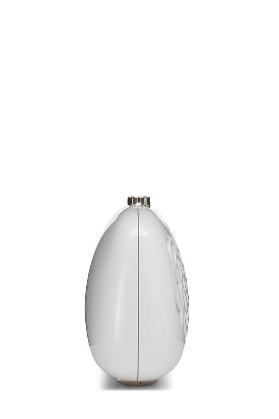 White Acrylic Camellia Minaudiere, , large image number 2
