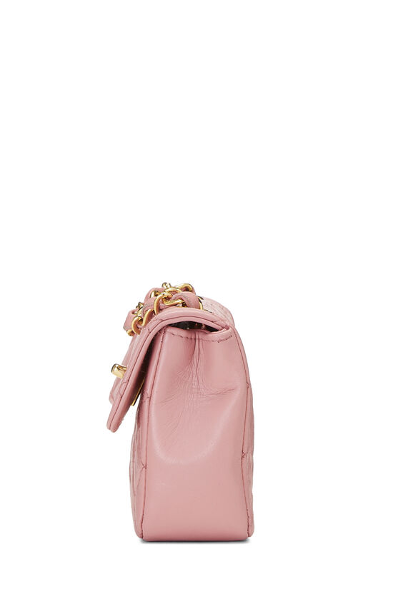 Pink Quilted Lambskin Half Flap Micro, , large image number 2