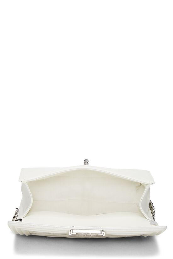 White Rainbow Chevron Lambskin Boy Bag Medium, , large image number 6