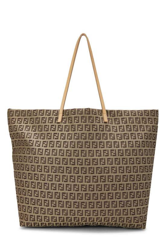 Beige Zucchino Canvas Zip Tote Large, , large image number 0