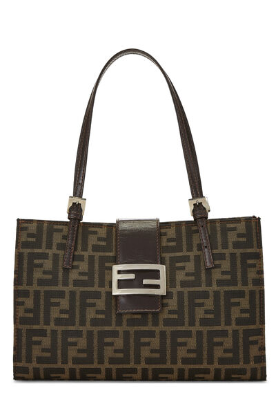 Brown Zucca Canvas Shopping Tote Small