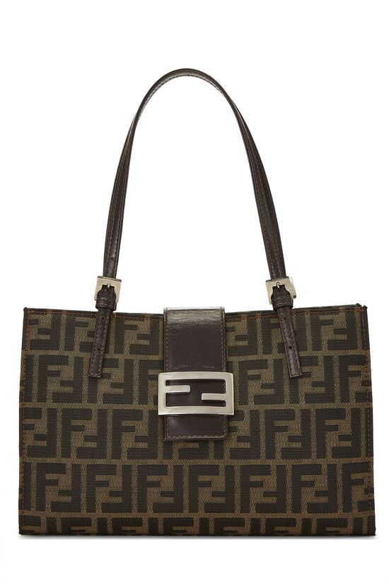 Brown Zucca Canvas Shopping Tote Small, , large image number 0