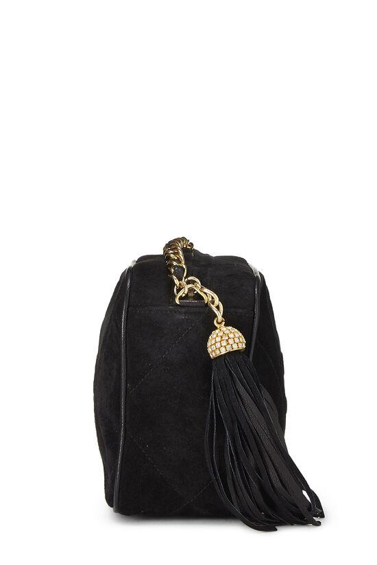 Black Suede Diamond 'CC' Camera Bag Mini, , large image number 2