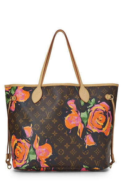 Stephen Sprouse x Louis Vuitton Monogram Canvas Roses Neverfull MM